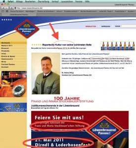 auf der Website der loewenbrauerei.de Passau gefunden am 20.5.2011, 15.06 Uhr